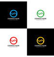 letter h in circle logo icon flat design vector image