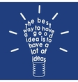 Light bulb with a quote vector image