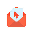mail symbol envelope icon click envelope vector image
