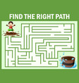 maze games find the dirty boy way to bathtub vector image vector image