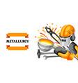 metallurgical background design vector image