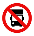 No lorry parking vector image vector image