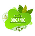 Organic product concept green logo leaves