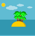 palms on the island vector image