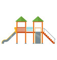 playground with slides complex in yard vector image