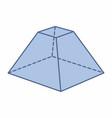 quadrangular pyramid trunk vector image