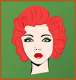 Red-haired girl vector image vector image