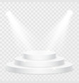 round stage podium with light on transparent vector image vector image