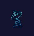 satellite dish big antenna linear icon vector image vector image