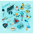 Science Isometric Flowchart vector image vector image