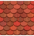 Seamless red clay roof tiles vector | Price: 1 Credit (USD $1)