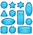 Set blue buttons vector | Price: 1 Credit (USD $1)