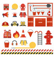 set of fire equipmen vector image