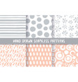 set of six stylish patterns vector image