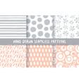 set of six stylish patterns vector image vector image