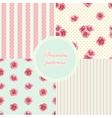 set vintage seamless patterns vector image