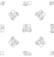 soft sofa pattern seamless vector image vector image