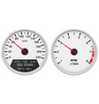 speedometer and tachometer white gauge vector image vector image