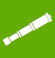 spyglass icon green vector image vector image