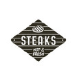 steaks old style patch rustic design bbq badge vector image vector image
