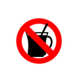 Stop coffee It is forbidden to drink morning cup vector image