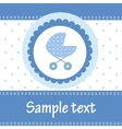 Template cards for the boy vector image vector image