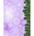 Thank you card on a bright christmas card EPS 8 vector image