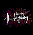 thanksgiving greeting hand vector image vector image