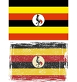 Uganda grunge flag Grunge effect can be cleaned vector image vector image