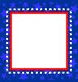 usa flag symbol square blue frame vector image vector image