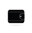 wallet in black icon vector image vector image