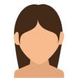 young woman shirtless avatar character vector image vector image