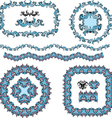 set of round and oval frames and vintage design vector image