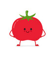 cute happy smiling raw frash tomato vegetable vector image