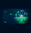 abstract silhouette polygonal atoms vector image vector image