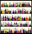 alcohol bottles on wall vector image vector image