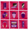 assembly flat shading style icons gadgets vector image vector image