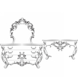 Baroque Imperial luxury furniture vector image