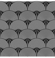 Black and White Psychedelic Circular Textile vector image vector image