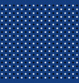 black and white stars pattern on blue background vector image