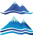 Blue mountains logos vector image vector image