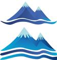 Blue mountains logos vector image vector image