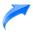 Blue up 3d arrow