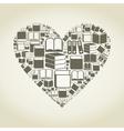 Book heart vector image vector image
