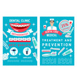 brochure for dentistry medicine vector image vector image