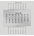 calendar month for 2016 pages March vector image vector image