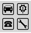 Car Service Flat Squared Icon vector image vector image