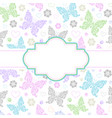 card with floral butterflies vector image vector image