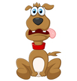 Cartoon dog posing vector image
