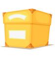 cartoon yellow box vector image vector image